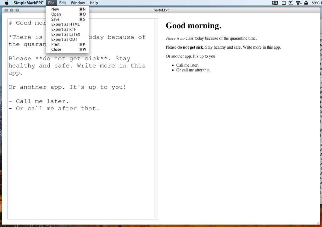 SimpleMarkPPC Screen Shot